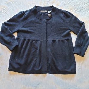 Autumn Cashmere Navy Blue Cardigan Sweater XS